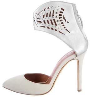 IRO Laser Cut Studded Pointed-Toe Pumps