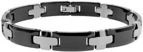 Lynx Ceramic Cross Bracelet - Men