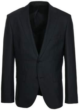 HUGO BOSS Men's Johnstons/Lenon Stretch Tailoring Trim Fit Black Suit - 42L Jacket - 36 Pant