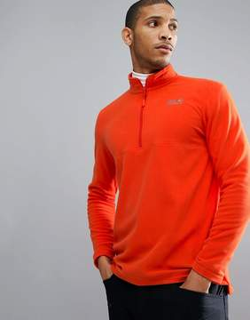Jack Wolfskin Gecko Half Zip Fleece in Orange