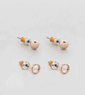 Reclaimed Vintage Inspired Hoop & Stud Earrings In 3 Pack Exclusive To ASOS