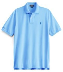 Ralph Lauren Classic Fit Mesh Polo Shirt Harbor Island Blue Xs