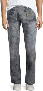 Robin's Jeans Distressed Denim Straight-Leg Jeans