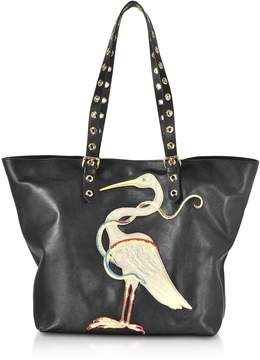 RED Valentino Embroidered Bird Tote