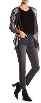 Democracy Embellished Raw Hem Girlfriend Jeans