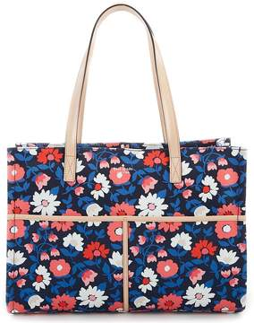 Kate Spade Washington Square Mega Sam Floral Canvas Satchel - RICH NAVY MULTI - STYLE