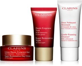 Clarins 3-Pc. Super-Restorative Skin Starter Set