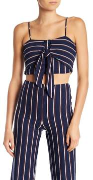 Dee Elly Front Tie Striped Tank Top