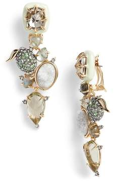 Alexis Bittar Lime Stone Cluster Clip On Earrings