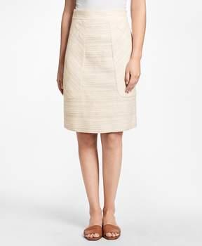Brooks Brothers Jacquard A-Line Skirt
