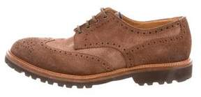 Brunello Cucinelli Wingtip Suede Derby Shoes