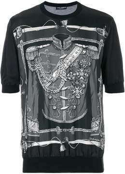 Dolce & Gabbana military uniform print T-shirt