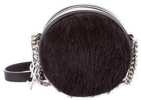 Saint Laurent Small Calfhair Bubble Bag - BLACK - STYLE