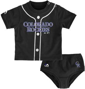 Majestic Baby Colorado Rockies Uniform Tee & Shorts Set
