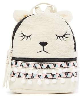 T-Shirt & Jeans Llama Faux Fur Small Backpack