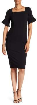 Donna Morgan Ruffle Sleeve Sheath Dress