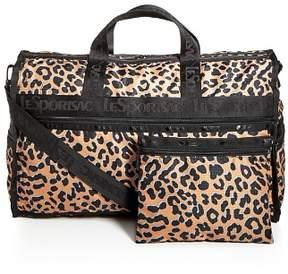 Le Sport Sac Candace Leopard Print Weekender Duffel Bag