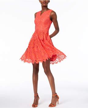 Donna Ricco Two-Tone Lace A-Line Dress
