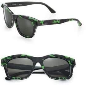 Valentino 53MM V656SCM Rockstud Plastic Camouflage Wayfarer Sunglasses