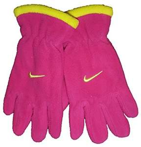 Nike Girl's Fleece Gloves, Size 7-16, Fireberry
