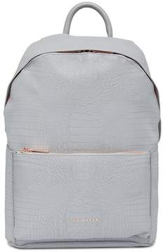 Ted Baker Rahri Reflective Croc Embossed Faux Leather Backpack