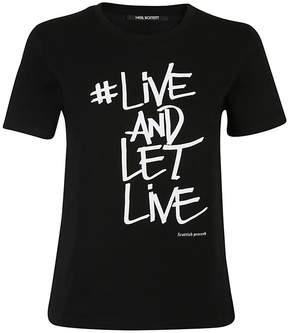 Neil Barrett Live And Let Live T-shirt
