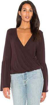Chaser Cotton Jersey Surplice Top