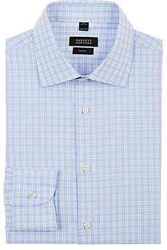 Barneys New York Men's Checked Cotton Poplin Dress Shirt