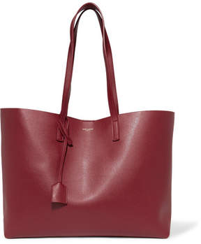 Saint Laurent Shopping Large Textured-leather Tote - Burgundy - BURGUNDY - STYLE