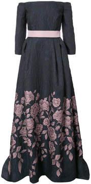 Carolina Herrera off-the-shoulder floral gown