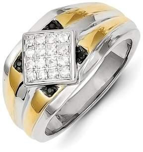Ice 14k Two-tone Black & White Diamond Men's Ring
