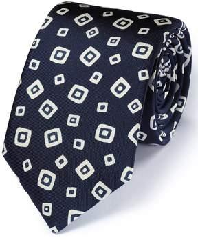 Charles Tyrwhitt Navy Silk Italian Luxury Square Tie