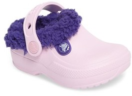 Crocs Toddler Girl's TM) Classic Blitzen Iii Faux Fur Clog