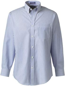 Lands' End Lands'end Men's Regular Long Sleeve Buttondown No Iron Pattern Broadcloth Dress Shirt