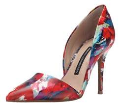 French Connection Womens Elvia Leather Pointed Toe D-orsay Pumps.