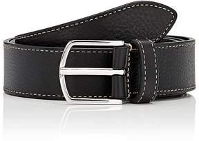 Barneys New York Men's Grained Calfskin Belt