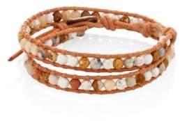 Chan Luu Jasper Mix Beaded Wrap Bracelet
