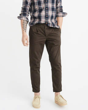 Abercrombie & Fitch Athletic Skinny Cropped Chinos