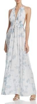 Aqua Tie-Dye Halter Maxi Dress - 100% Exclusive