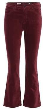 AG Jeans The Jodi Crop velvet trousers