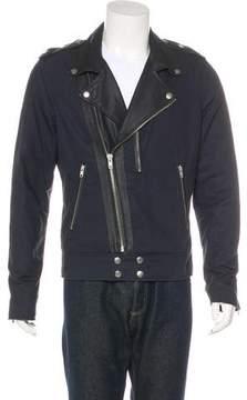 BLK DNM Leather-Trimmed Moto Jacket