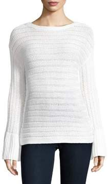 Ellen Tracy Bell-Sleeve Boatneck Top