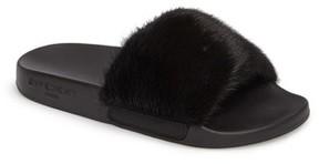Givenchy Women's Genuine Mink Fur Slide Sandal