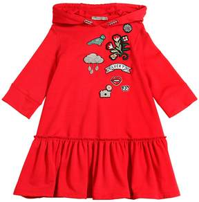 Ermanno Scervino Sweatshirt Dress W/ Embroidered Patches