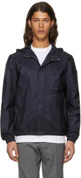 Prada Navy Nylon Hooded Zip Jacket
