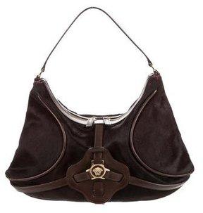 Versace Ponyhair Shoulder Bag