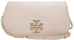 Tory Burch Britten Pink Leather Ladies Clutch Handbag 29861205 - LIGHT OAK - STYLE