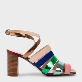 Paul Smith Women's Multi-Colour Leather 'Asa' Heeled Sandals