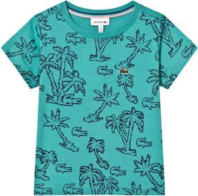 Lacoste Green Palm Tree Print T-Shirt