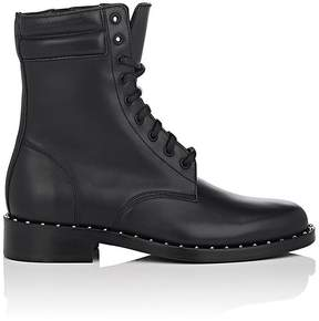 Off-White Women's Studded-Welt Leather Combat Boots